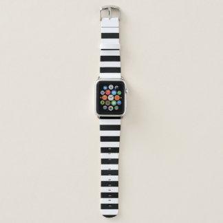 Black Horizontal Stripes Apple Watch Band