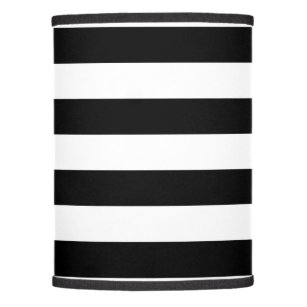 Black Horizontal Stripes Lamp Shade