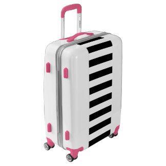 Black Horizontal Stripes Luggage