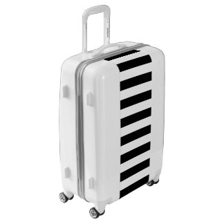 Black Horizontal Stripes Luggage