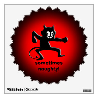 Black Horned Imp, Pointed Tail, sometimes naughty Wall Sticker