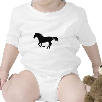 Black horse 1 baby bodysuit