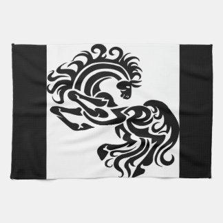 Black Horse Art Towel