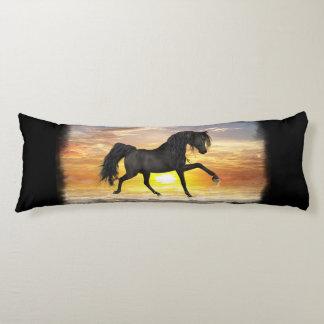 "Black Horse Body Pillow 20"" x 54"", You Customize"