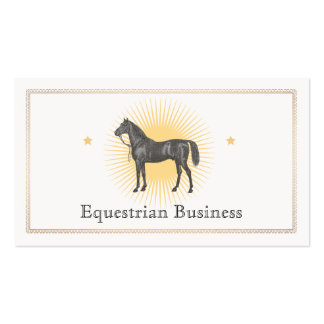 Horse racing business cards templates zazzle for Horse business cards