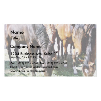 Black Horse Double-Sided Standard Business Cards (Pack Of 100)