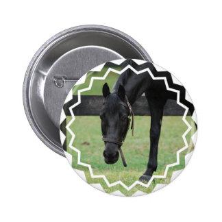Black Horse Button