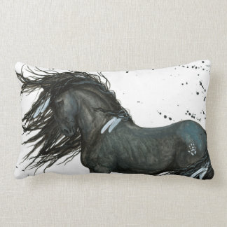 Black Horse by Bihrle Pillow