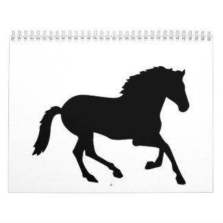 Black horse calendar