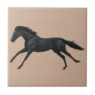 Black Horse Ceramic Tile