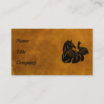 Black Horse  Customized Business Card