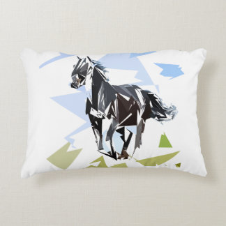 Black horse decorative pillow
