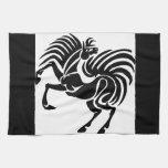 Black Horse Design Kitchen Towel
