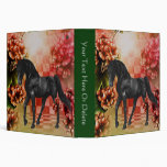 Black Horse Fantasy Flowers Binder