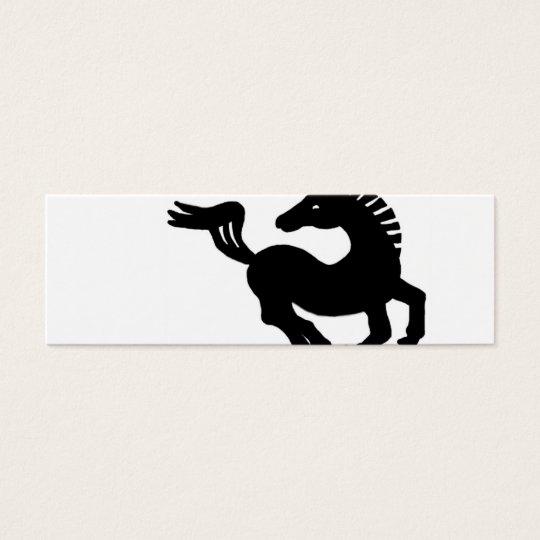 Black horse galloping mini business card