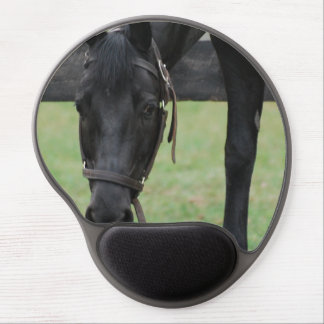 Black Horse Gel Mouse Pad