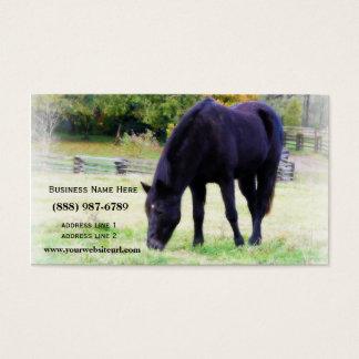 Black Horse Grazing Business Card