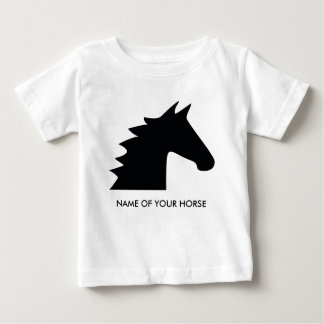 Black Horse Head Baby T-Shirt