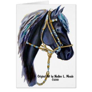 Black Horse Head card