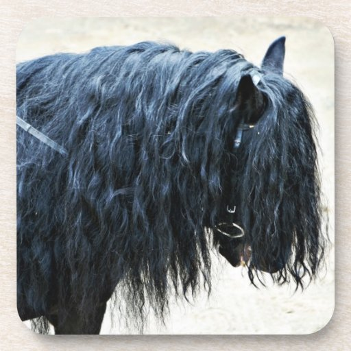 Black Horse Head Coaster