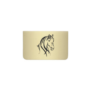 Equestrian business card holders cases zazzle black horse head gold horse business card holder colourmoves Choice Image