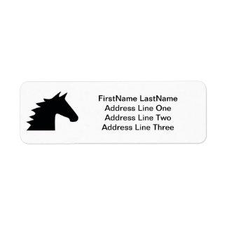 Black Horse Head Label