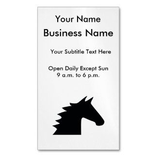 Black Horse Head Magnetic Business Card