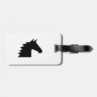 Black Horse Head Silhouette Elegant Bag Tag