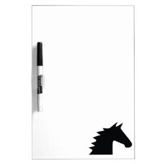 Black Horse Head Silhouette Elegant Dry Erase Board