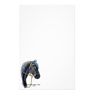 Black Horse Head Stationary Personalized Stationery