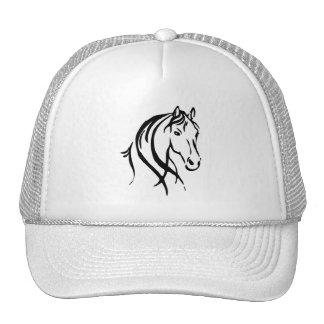 Black Horse Head Trucker Hat