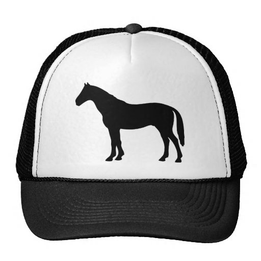 black horse - horses trucker hat