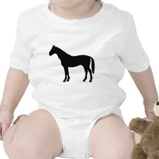 black horse - horses t-shirt