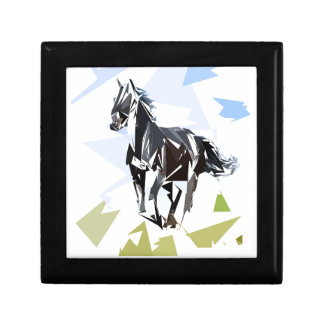 Black horse jewelry box