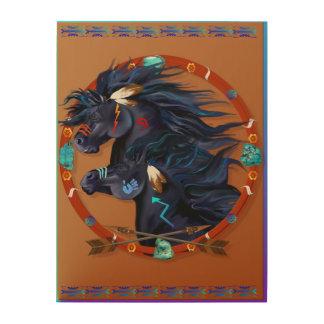 Black Horse Mandala Poster