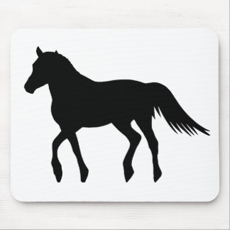 Black Horse Mouse Pads