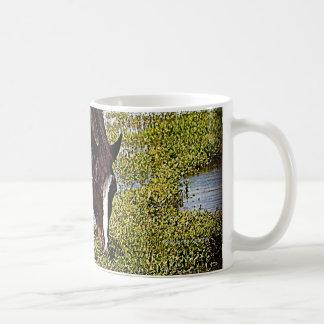 Black Horse Classic White Coffee Mug