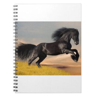 black horse on desert notebook