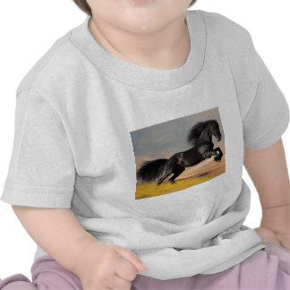 black horse on desert tshirt