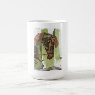 Black Horse On Serpentine Watercolor Wash Coffee Mugs