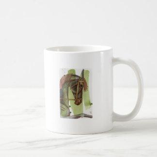Black Horse On Serpentine Watercolor Wash Mug