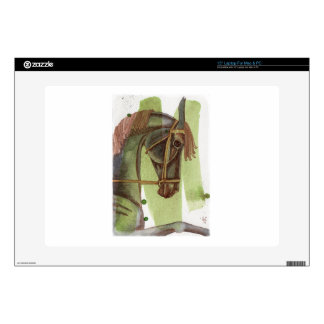 Black Horse On Serpentine Watercolor Wash Skins For Laptops