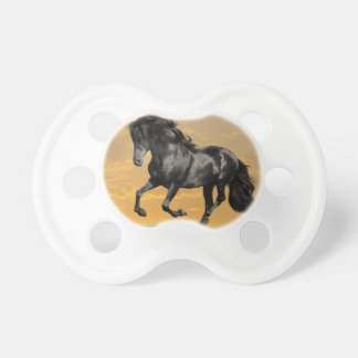 Black horse pacifiers