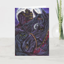 BLACK HORSE Persian Cat Note Card