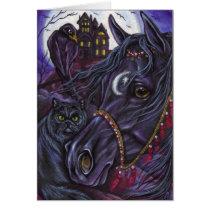 BLACK HORSE Persian Cat Note Card