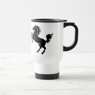 Black Horse Rearing Travel Mug