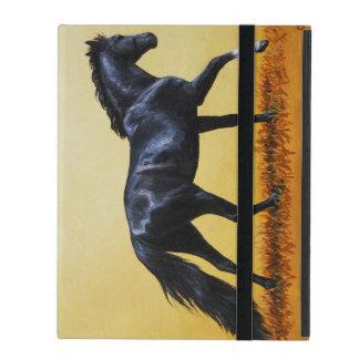 Black Horse Running iPad Folio Case