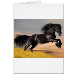 black_horse_running.jpg tarjeta de felicitación