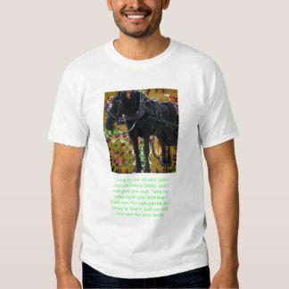 Black Horse Scripture Tshirt Matt 11:28,29