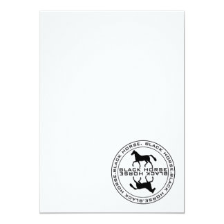 Black horse seal card